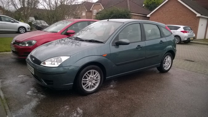 My new smoker - A 2004 (04) Focus 1.8 LX in Neptune Green... the epitome of modern bangernomics.