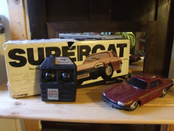 I found this Corgi radio-controlled XJ-S recently in a jumble sale and paid a fiver for it (it works, too) - I have no idea about its history though as I've never seen one before. Can anyone shed any light?