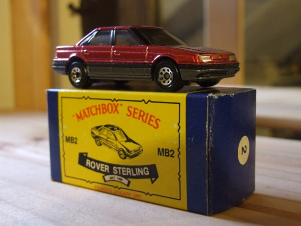 One of the latest additions to my collection - I stumbled across it by accident on eBay when looking for an ABS sensor for my 820 Vitesse! Apparently, this was created for the Matchbox Collector's Club of America to coincide with the launch of the Sterling brand. Exactly the same as the UK model, except for the retro-style box...