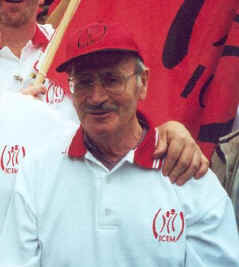 Mostyn 'Moss' Evans, shortly before his death in 2002