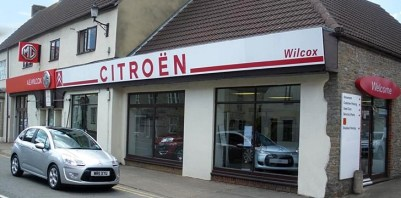 A.E. Wilcox and Son's Citroën and MG site today