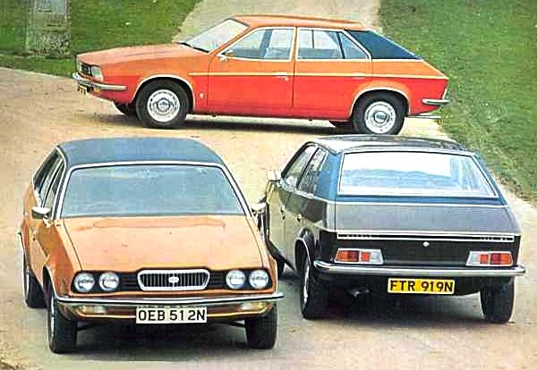 The three Princess launch models in Austin - Morris and range topping Wolseley 2200