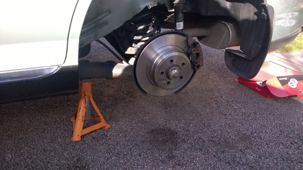New brakes all round - And maybe they will last a little longer now.