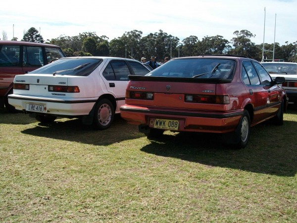From the rear, it's only the Rover badging that marks the 416i apart from the Honda Integra on which it was based
