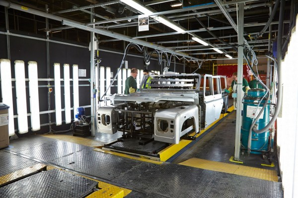 High-tech XE factory is a far cry from the old Land Rover Defender line at Lode Lane
