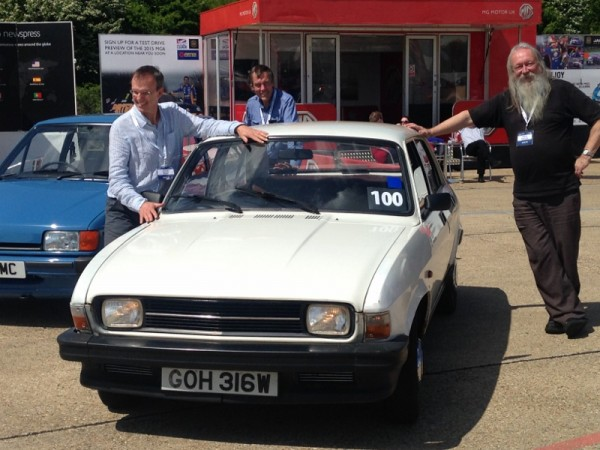 Motoring writers Chris Rees, Peter Cracknell and Dave Randle, clearly enjoying the revived Allegro
