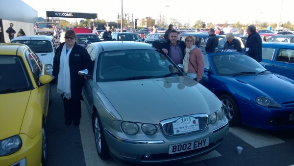My other Jacky with Neil Rapsey and his missus Tracey - the girls piloted my Rover 75.