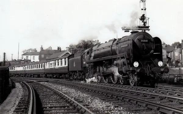 70001 Lord Hurcombe- leaving Norwich