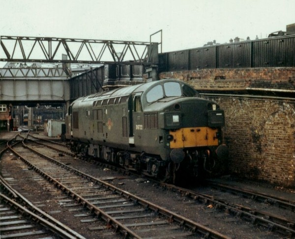 D6722 AKA 37608 at London Liverpool Street mid 60's.