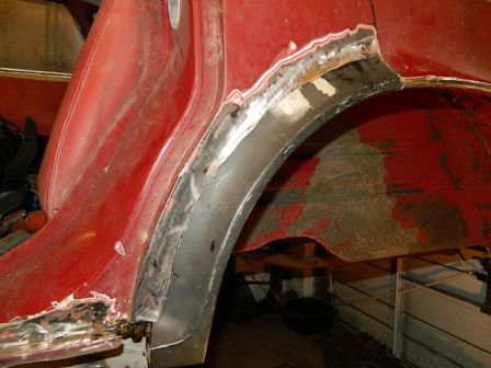 Repair of rear arch adapting a Maxi panel