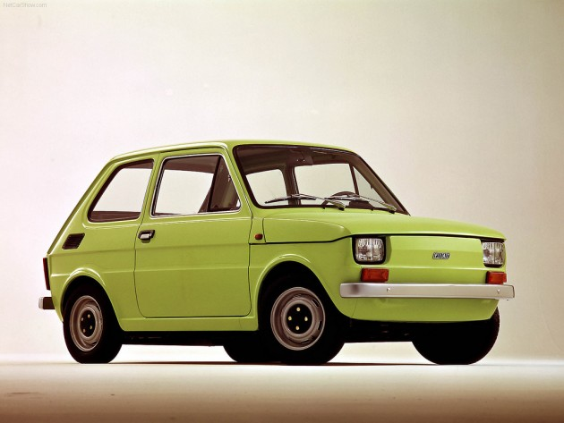 The dreadful Fiat 126. A very rare sight nowadays but it brings an extra fond smile to my face when I see one rattle past.