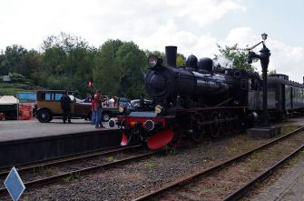 Running steam engine of the ZLSM