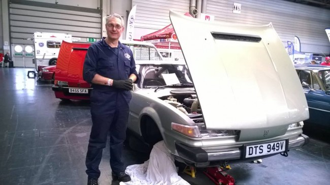 John Batchelor in split personality role represented the SD1 and Rover 200 / 400 clubs.