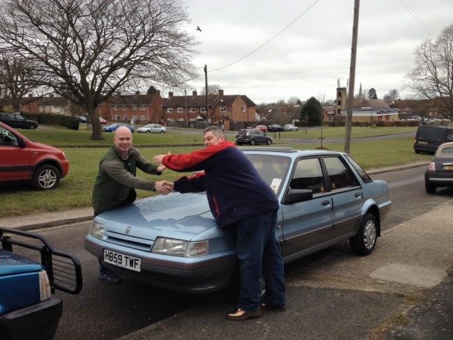 Julian Pearson takes the keys before his long drive to Wetherby.