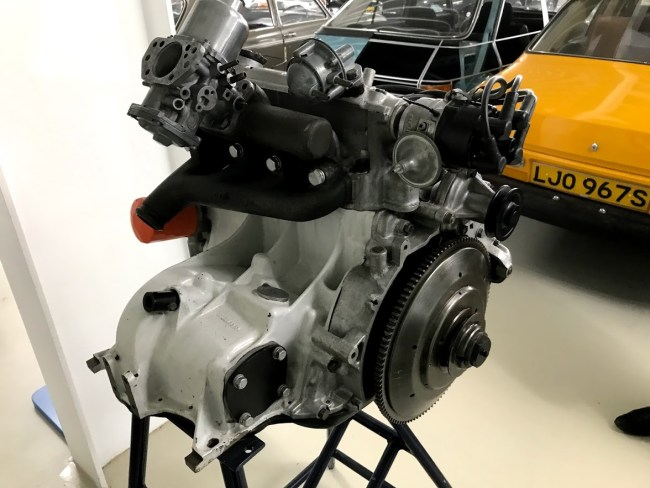 K-Series engine was designed to be canted back, rather like Peugeot's 'suitcase' engine, as used in the 104