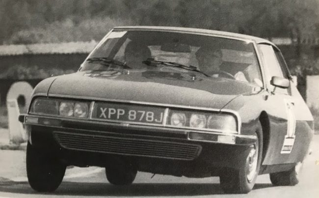 Citroen SM on the 1971 Michelin press test day. John Bolster is driving...