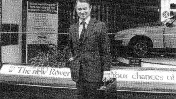 Sir Michael Edwardes pictured in 1977