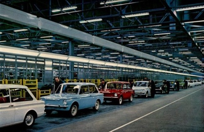 Hillman Imp production line at Linwood Scotland