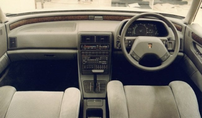1985, interior is looking more traditional, but digital instruments look promising