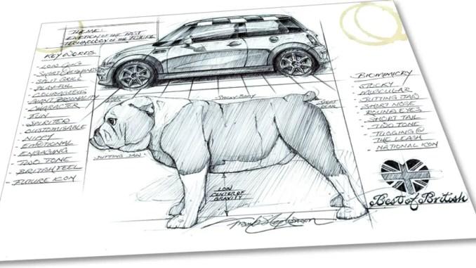 MINI R50 sketch by Frank Stephenson