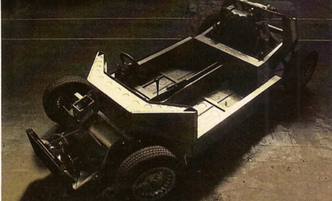 The Panther Solo's chassis with arrowhead bulkhead design was produced by Len Bailey