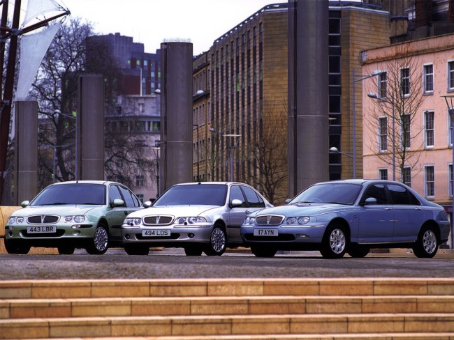 The Rover range presented a unified face for the 2000s