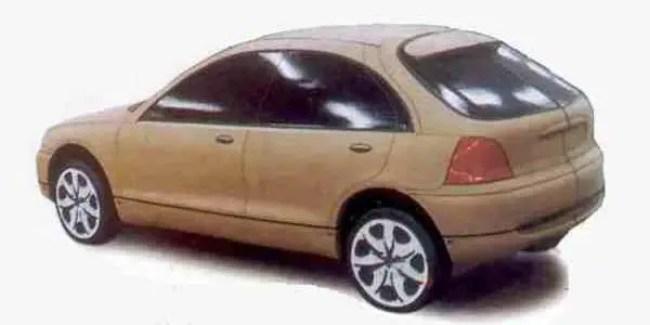 Rover 200 (R3) clay model