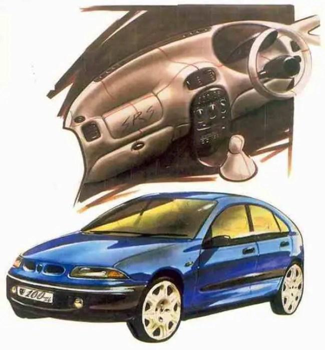 Rover 200 (R3) sketch