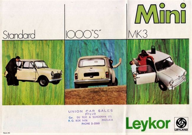The Mini MK3 headed a three car Mini range in South Africa at the dawn of the '70s, marketed by Leykor.