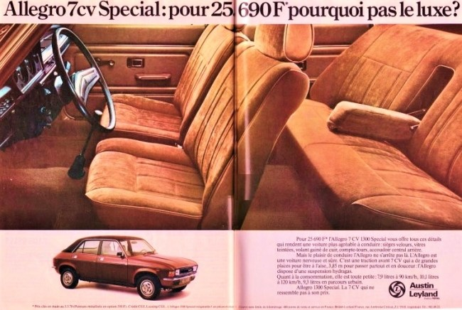 The French like their comfort - and that's what the Allegro 1300 Special gave them, for a reasonable price.