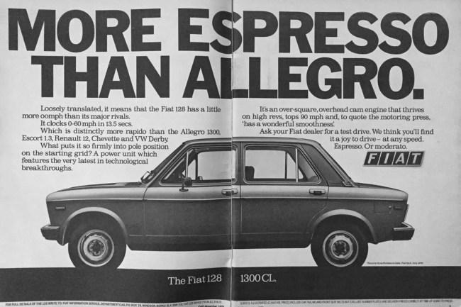 Fiat 128 advert