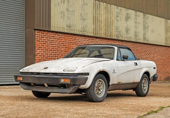 Triumph TR8 auction