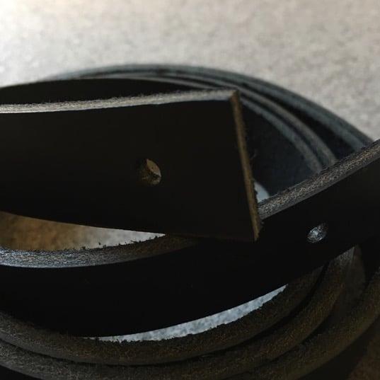 Læderstropper - sort