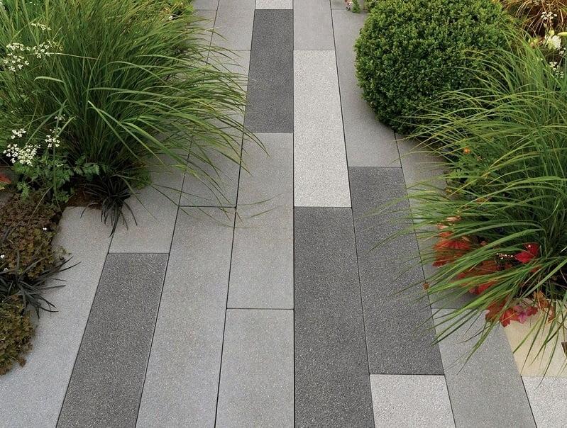 Slabs garden office path ideas