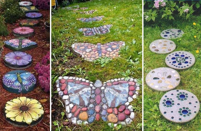 Unusual garden path deas