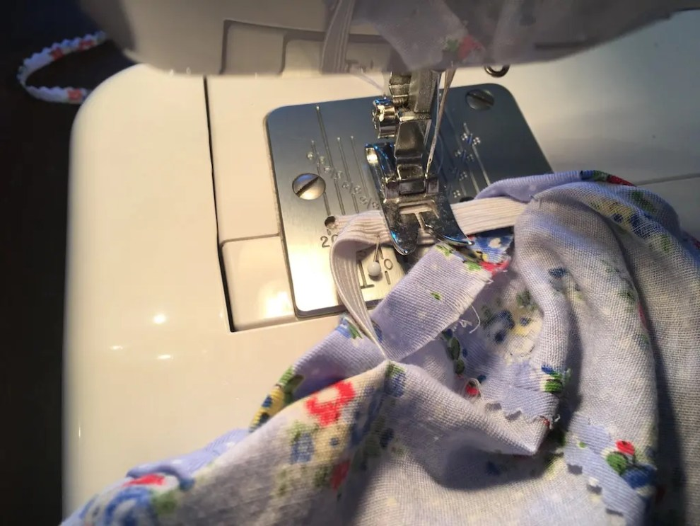 elastic ends sewn