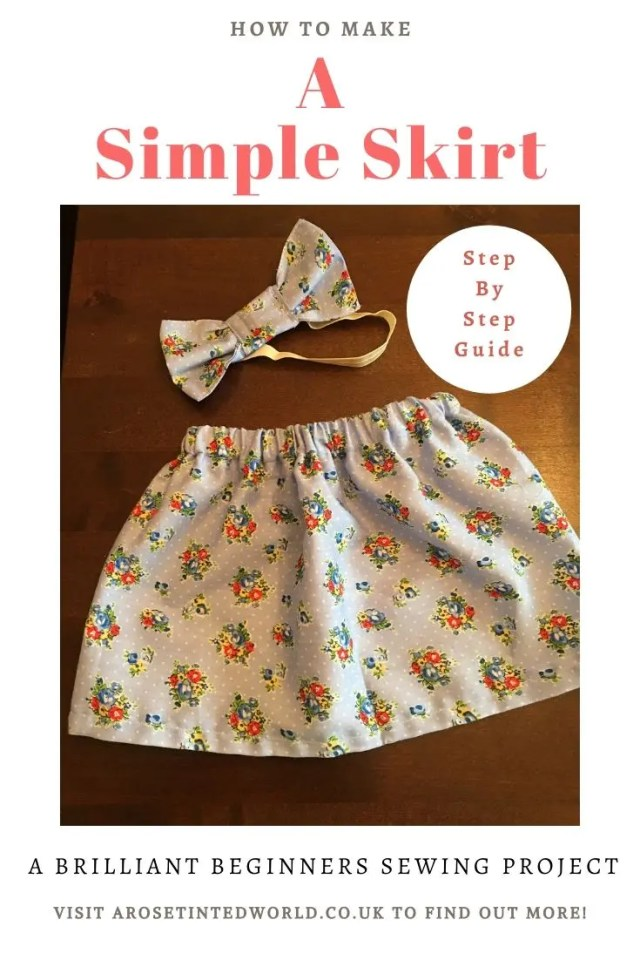 Making A Simple Skirt - a picture tutorial of how to sew a pretty skirt with an elasticated waist - perfect first sewing project for sexists of all ages #sewintutorials #sewingprojects #sewing #sewingclothes #sewingskirt #sewingtips #beginnerssewingprojects #beginnersewing #easysewing #easydiy #easyfirstsewingproject #picturetutorial