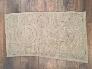 Making a rag rug - hessian design