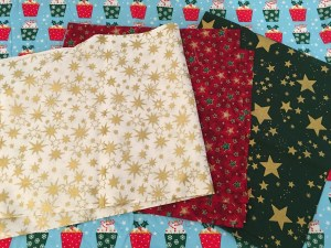 Padded fabric Christmas trees - fabric choices