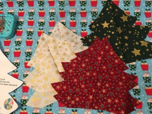 Padded Fabric Christmas Trees - cut out trees 1