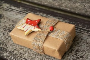 Merry Lagom Christmas - brown paper christmas parcel