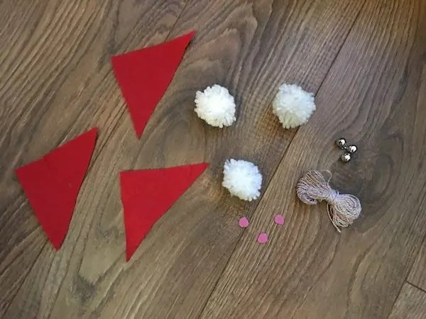 Christmas Pom-Pom crafts - gnome ornaments