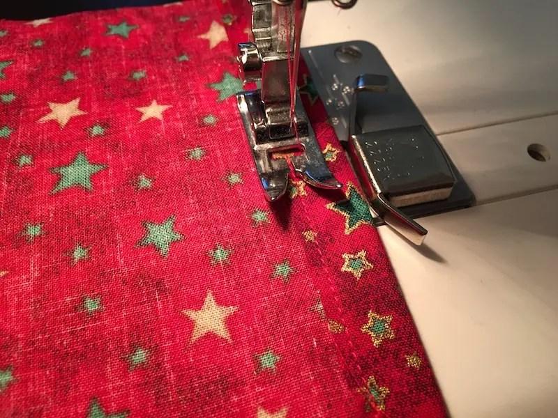 Advent Calendar Treat Bags - ribbon casing
