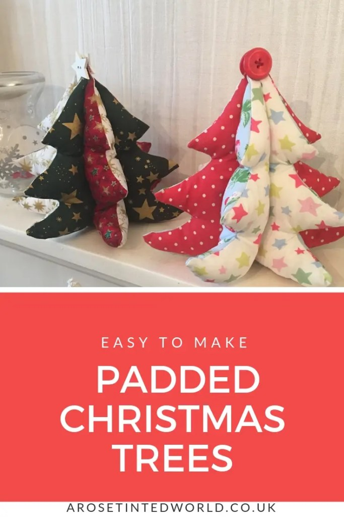 Padded Fabric Christmas Trees