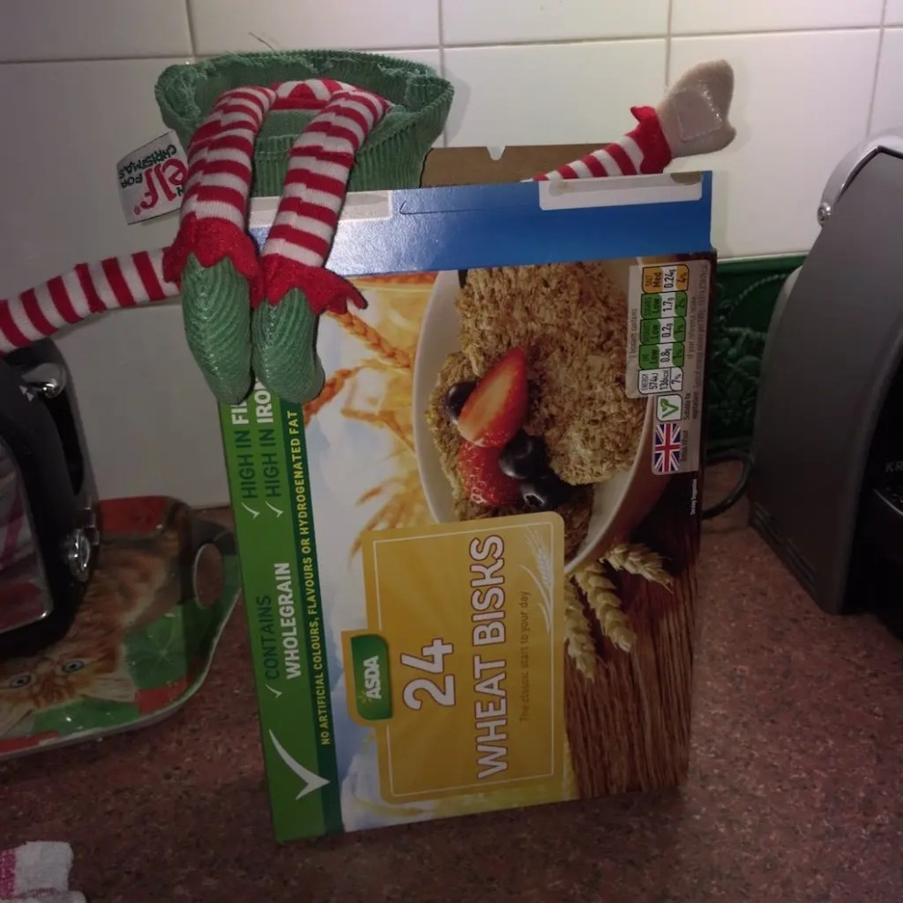 12th of December - elf in a cereal box
