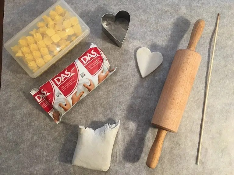 5th of December - ingredients for clay decorations