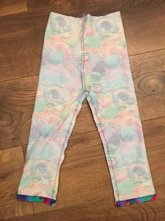 How To Make Children's Leggings Without Needing A Pattern - constructing 2