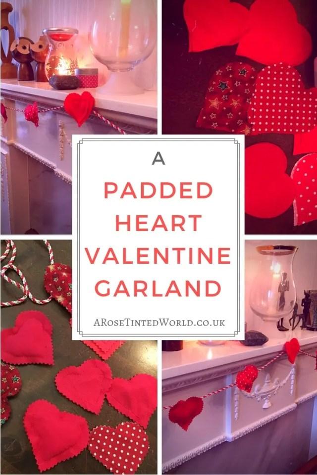 Padded Heart Valentine Garland