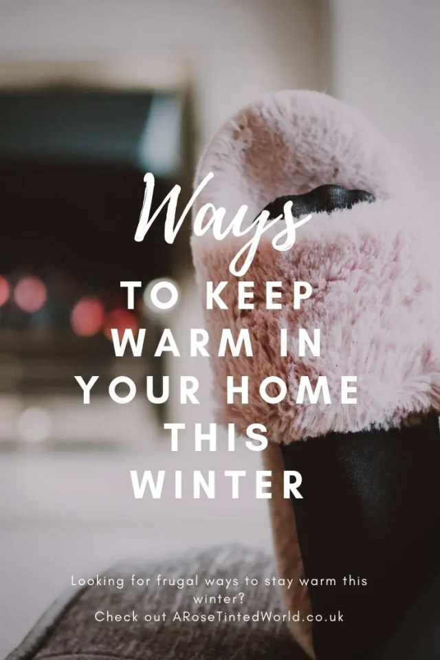 Frugal Ways To Keep Warm In Your Home This Winter - some great ways to heat your home for less. Conserve energy. Reduce emissions. Save money. Be more zero waste. #frugallivingtips #frugallivingideas #frugaltips #staywarm #savemoneyonelectricity #savemoneyonheating #savemoneytips #savemoney #heating #homehacks #warmth #warm #winterhome #warmhomedecorideasrugs