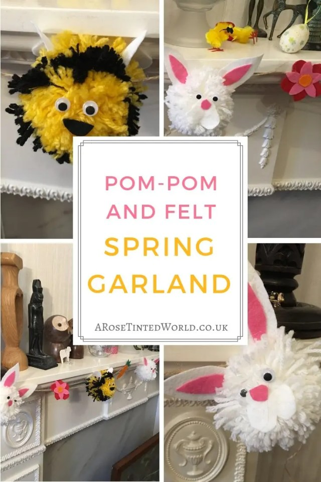 PomPom Spring garland.